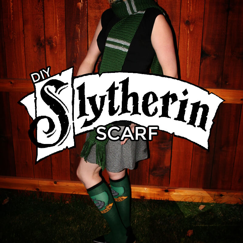How to crochet a Slytherin scarf