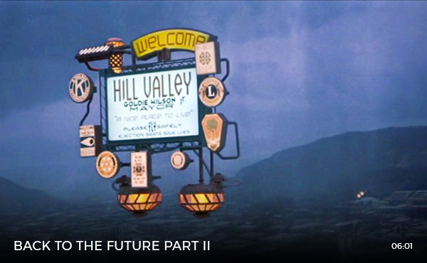 Skyway Sign in Back To The Future Part II