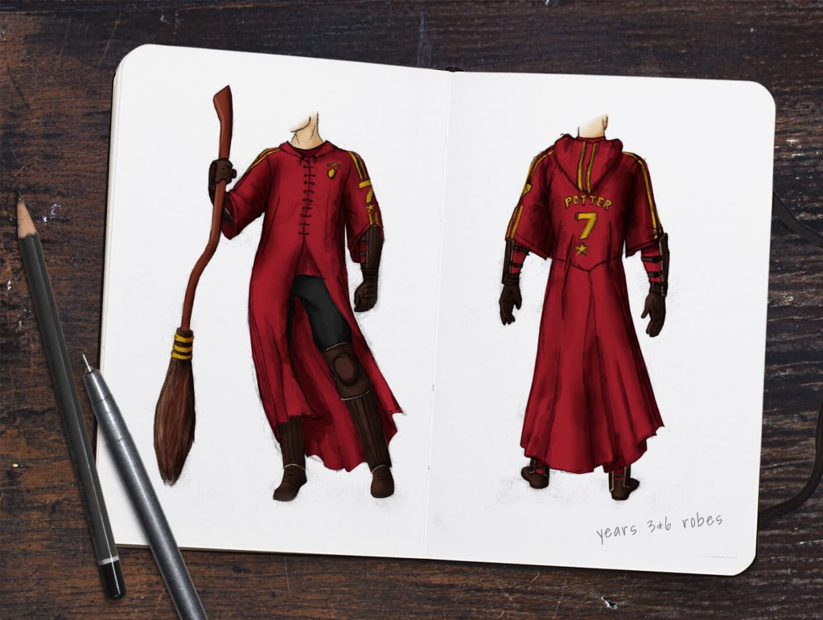 A Quidditch costume reference