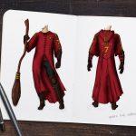 Sketch of Quidditch Robes from Prisoner of Azkaban