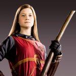 Ginny Weasley in her Quidditch uniform